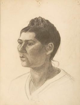portretstudie vrouw in vlakken