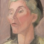 portretstudie vrouw met hoed